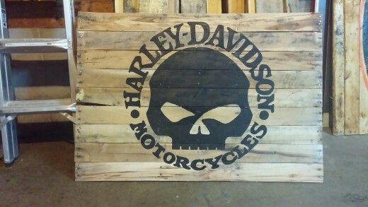 Harley Davidson Pallet Flag