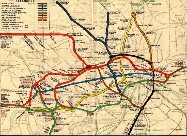 London Underground 1908 map