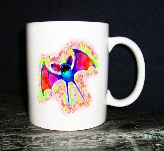 Zubat Pokemon-themed Coffee Mug by KirkwoodBowls on Etsy
