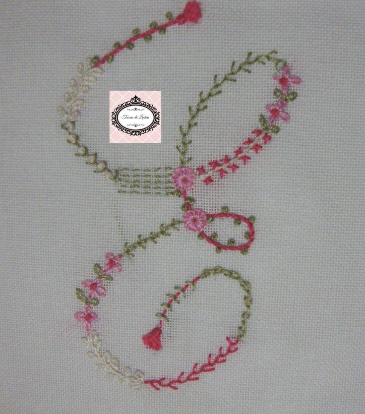 Embroidery Monogram Letter E Sample