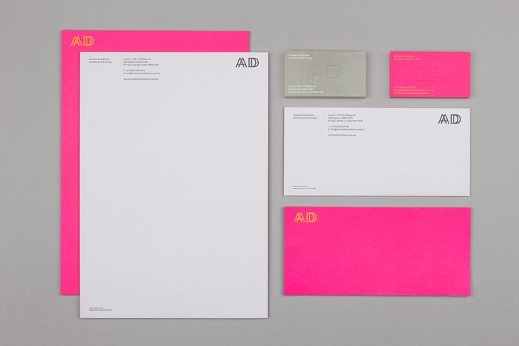 Andrew Donaldson Architecture & Design stationery by M35.