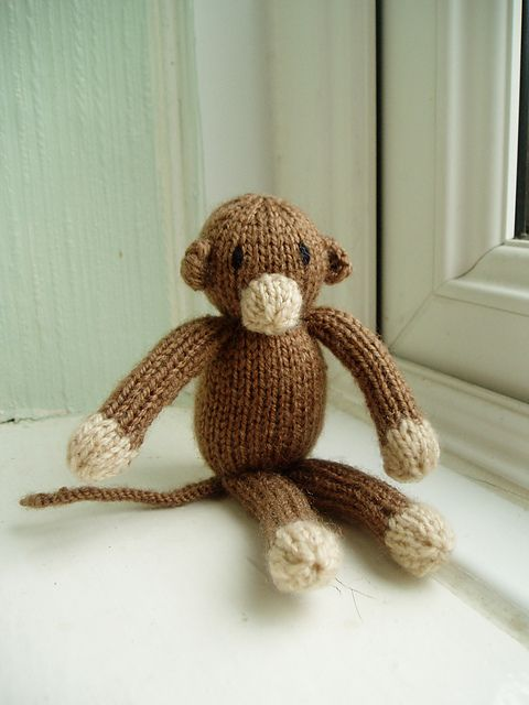 Knitting Patterns Jungle Animals : Mini Monkey - This pattern is available as a free Ravelry download The final ...