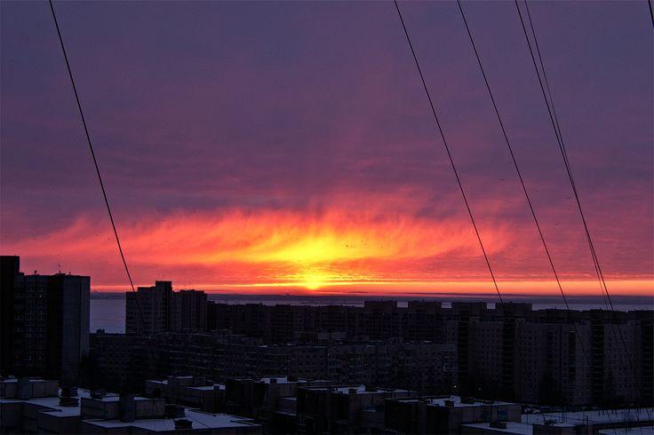 #139 Winter sunset.