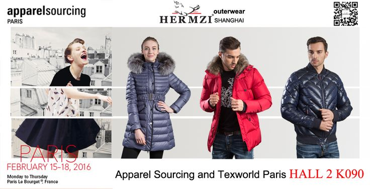 #China #Shanghai #Hermzi #Fashion #outerwear #downjackets #jacket #coat #parka #design will attend #apparel #sourcing #texworld #paris for #winter #autumn #2016 #2017 #collection