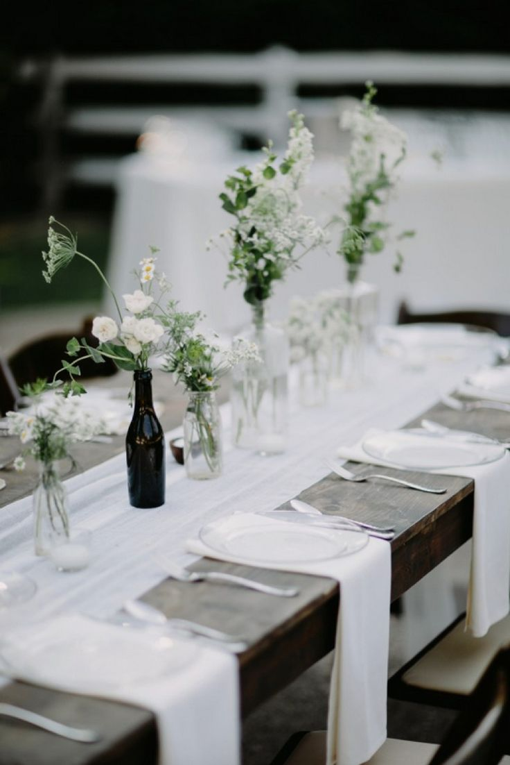 Organic Minimalism Tablescape See more here: http://cedarwoodweddings.com/2015/08/organic-minimalism-caprice-steve/