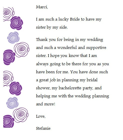 Thank You Note For Wedding Gifts: I Created These Thank You Notes For My Bridesmaids And