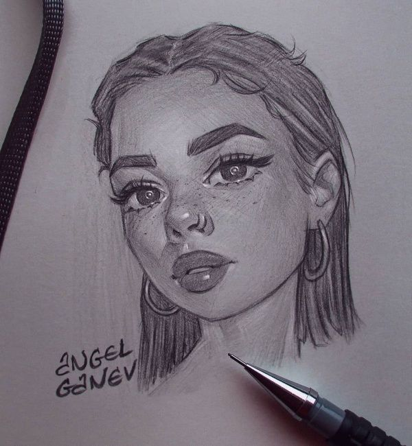 45 Cute And Easy Things To Draw When Bored Buzz Hippy In 2020 Girl Drawing Sketches Art Sketches Pencil Art Drawings Sketches