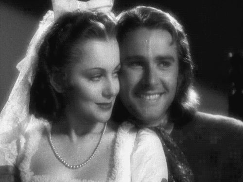 Olivia de Havilland and Errol Flynn - Captain Blood (1935) she was 18 and he was 25