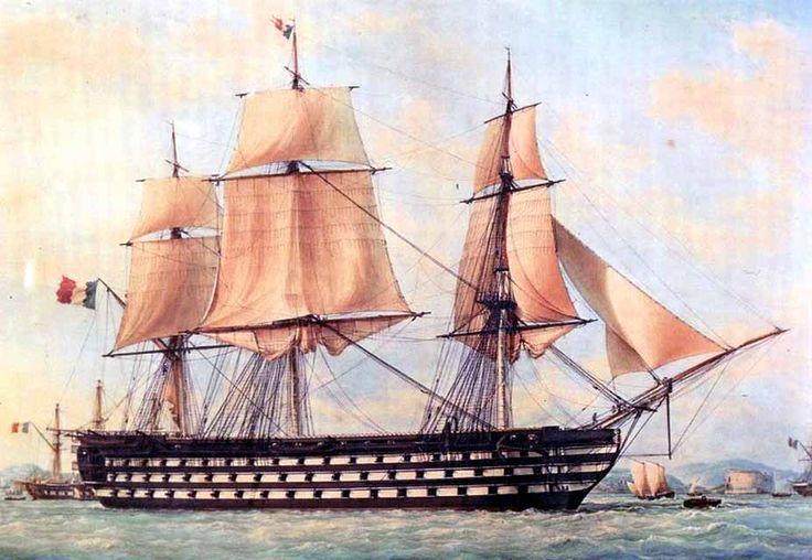 Pinturas de navíos franceses de tres puentes