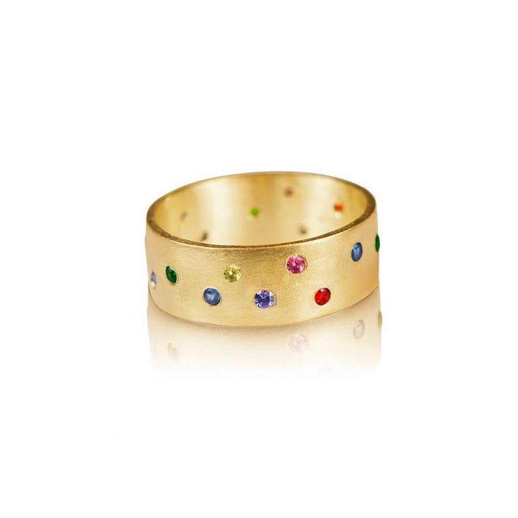 Aurora 22k gold and diamond wedding band diamond wedding