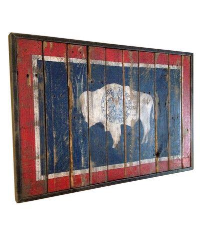 "Wyoming State Flag Painting - Wyoming Pride The ""Devine"" Series!"