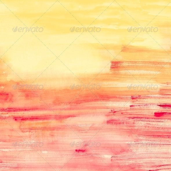 Pink and Orange Watercolor Stripes (Art)