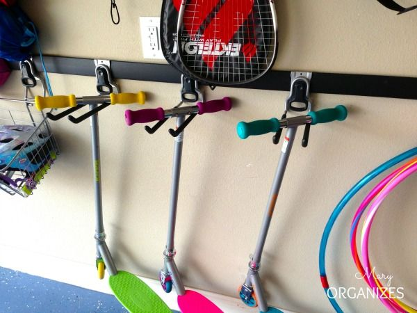 Garage Organization For Real Families Scooter Storage