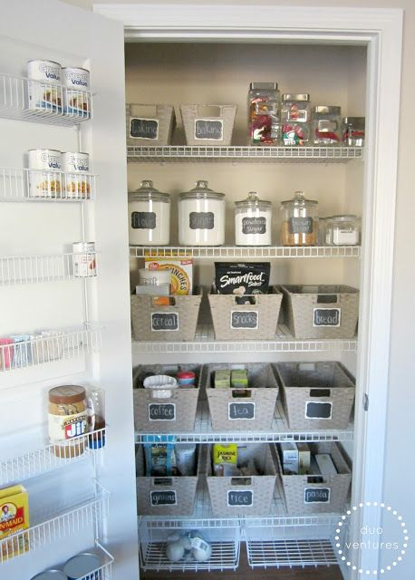 If I had a pantry, I'd want it to look like this!!!  Duo Ventures: Organizing: The Pantry