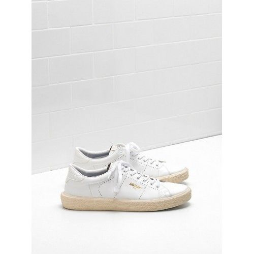 Golden Goose Soldes - Chaussure 2017 Golden Goose Homme TENNIS Sneakers Blanche G31MS714.A1