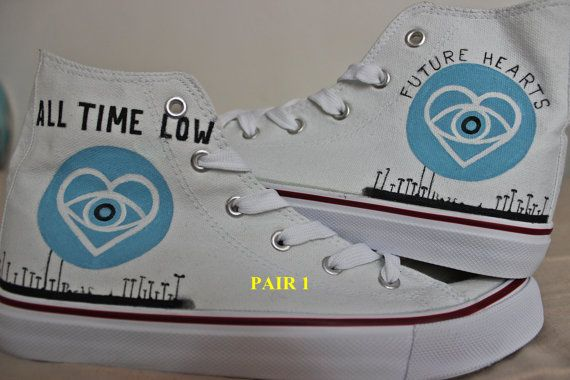 All Time Low  future hearts Shoes by ShadowMoses on Etsy