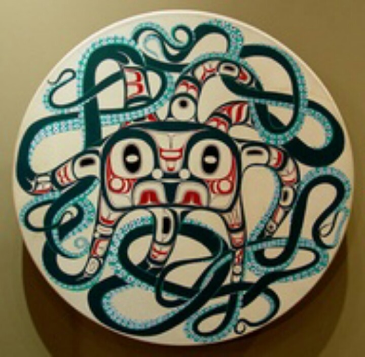 colourful first nations octopus tattoo ideas octopus pinterest octopus and first nations. Black Bedroom Furniture Sets. Home Design Ideas
