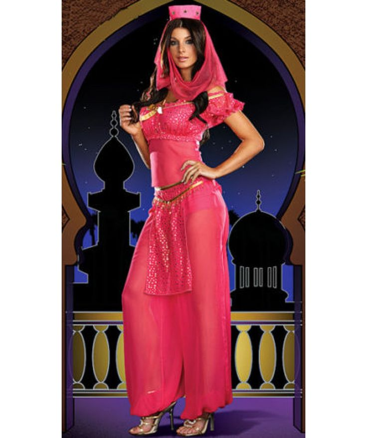 Buy Womens Fancy Dress Belly Dancer Jasmine Aladdin
