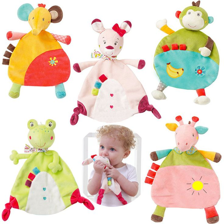New 5 style Newborn Baby Appease towel Grasping Soft Comforting Doll Infant Toys baby Hand towel rattle toys SA894497
