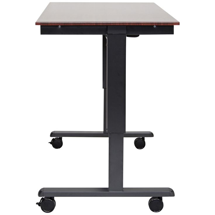 Upas Black and Dark Walnut Small Electric Standing Desk - Style # 33X16
