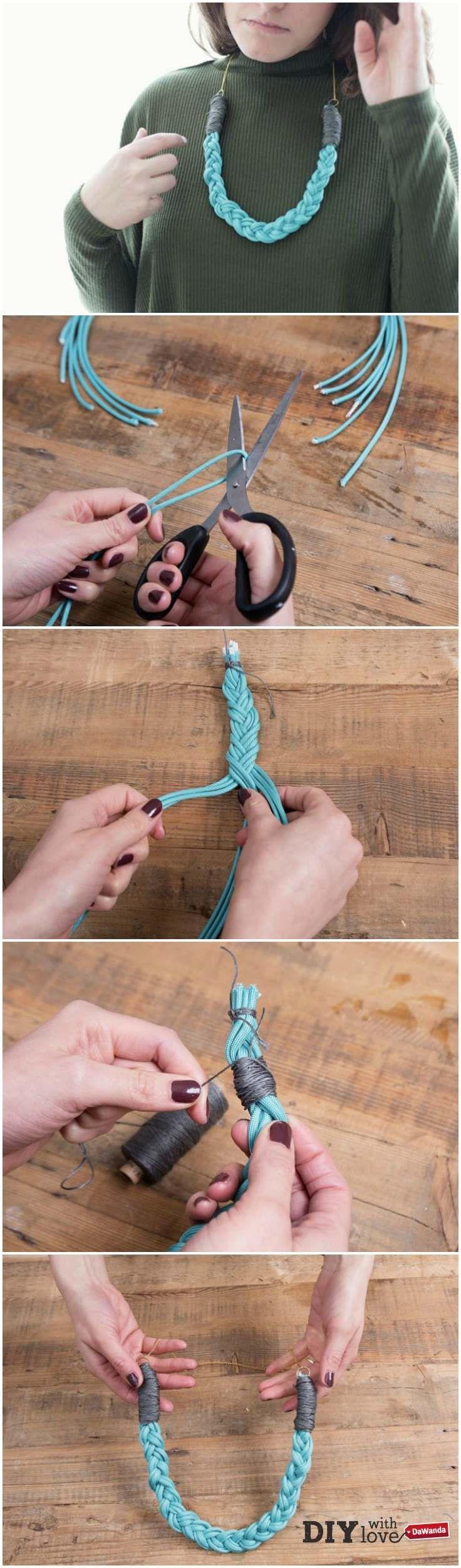 Trend gioielli paracord - realizza una collana intrecciata con il nostro tutorial! http://it.dawanda.com/tutorial-fai-da-te/creare-gioielli/realizzare-collana-intrecciata-paracord