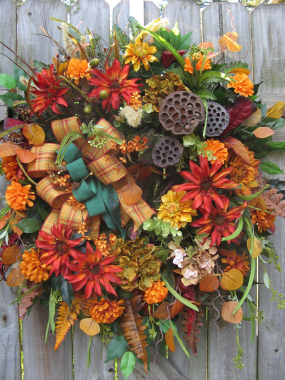 Fall Wreath Rustic Wreath Country Wreath Door by IvySageDesigns, $165.00