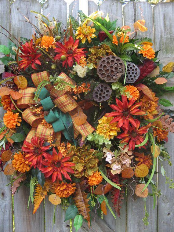 Fall Wreath Rustic Wreath Country Wreath Door by IvySageDesigns, $165.00