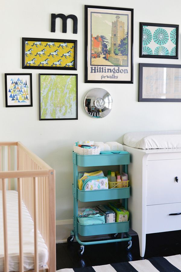 Colorful modern #nursery with a slight vintage feel.
