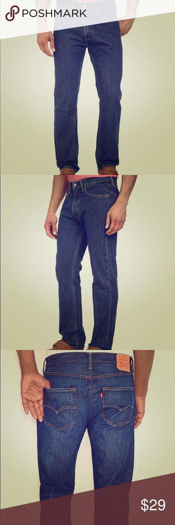 levis 505 mens blue jeans Very comfortable. On trend. Great quality and flawless Levi's 505 jeans. Levi's Jeans Boot Cut