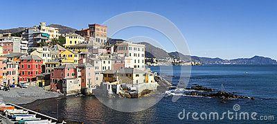The ancient village on the sea in Genoa Boccadasse Il mio nuovo lavoro su dreamstime