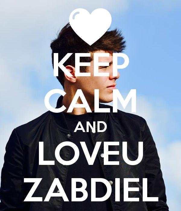 KEEP CALM AND LOVEU ZABDIEL