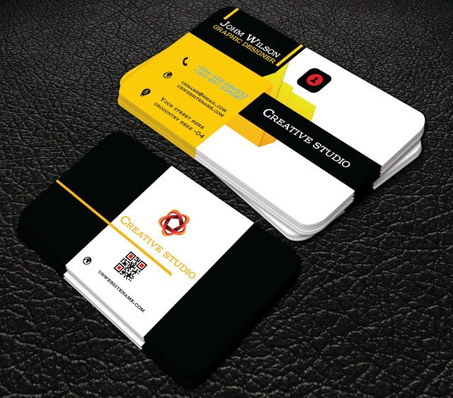 94 best professional free business cards images on pinterest professional yello colour business cards professional business card reheart Images