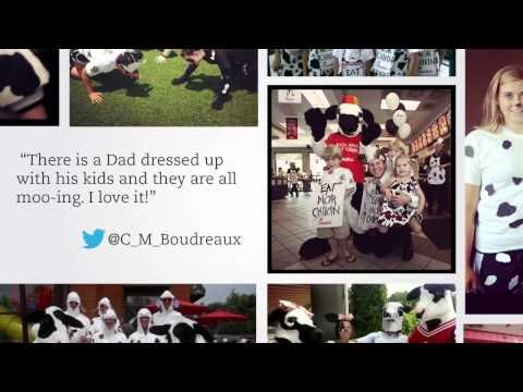 Cow Appreciation Day is Coming -- July 12, 2013. Get creative ideas from this video of past participants. We will see you at the Alexandria Mall Chick-fil-A!