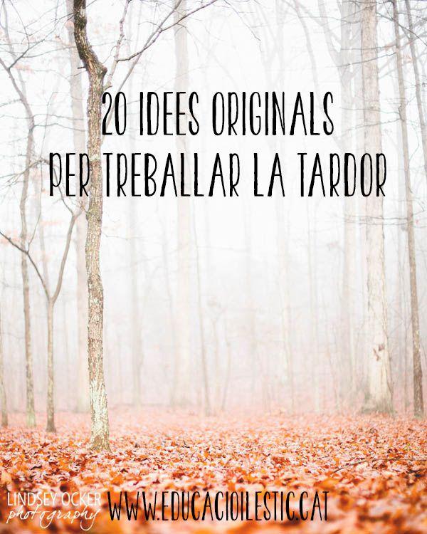 20 idees originals per treballar la tardor