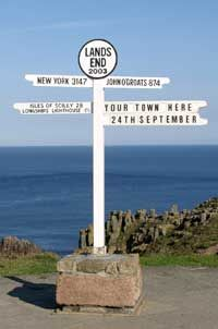 Been there, tooooo <3 Land's End, Cornwall: walked the South West Coast Path from St. Ives to Falmouth. (In my younger years). Probably the most beautiful place on earth!