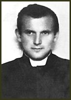 .Young Father Karol before he was Pope John Paul II