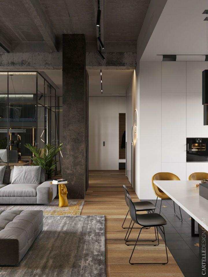 Spectacular Contemporary Interiors Decoholic Industrial Interior Design Modern Interior Design Loft Interiors