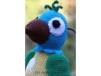 Amigurumi,gehäkelte Papagei.Häkeln.Handarbeit.Häkeltier.handmade