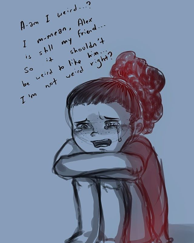 Decided to draw sad baby lau before i got to sleep. SORRY FOR THE SAD BABY LAU. #hamiltots #cattlingarts #johnlaurens