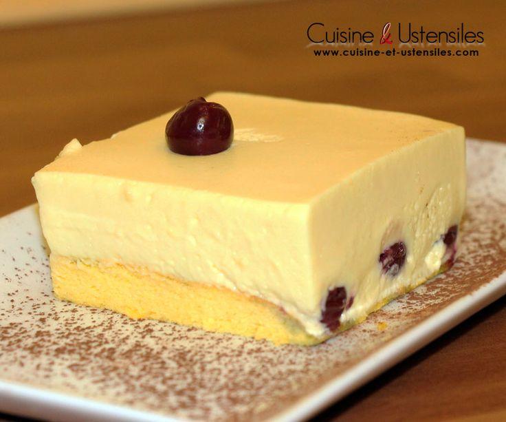 Bavarois vanille et cerises (fraiches ou amarena)