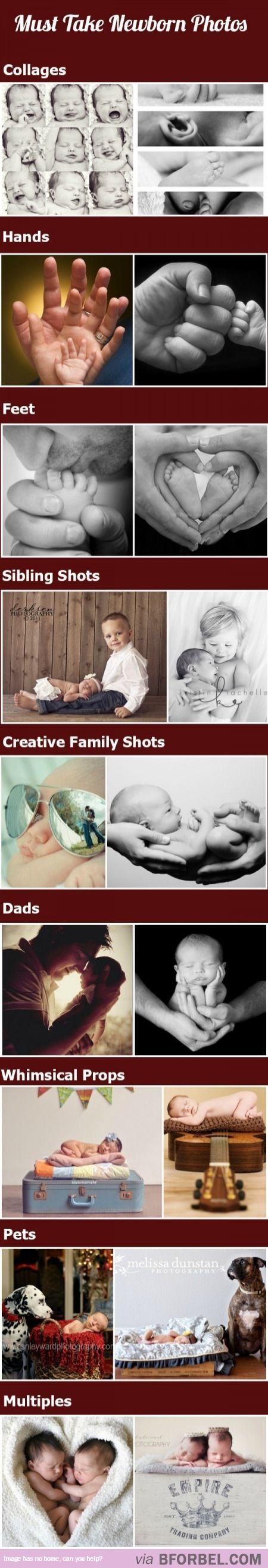 9 Must-Take Newborn Photos… Only thing missing is one with mommy!