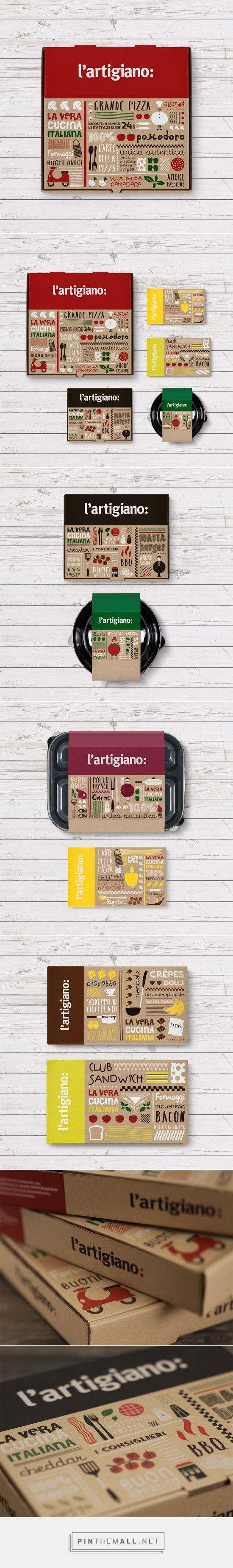 L'Artigiano is a chain of Italian food delivery restaurants.