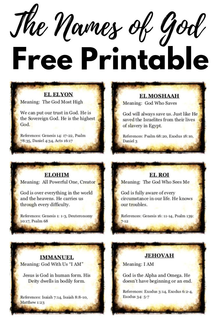 Priceless image with free printable names of god