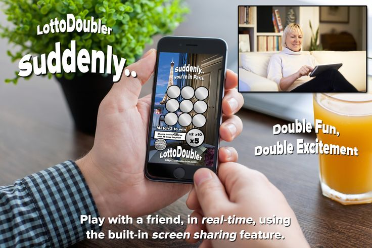 Play with a friend, in real-time, using the built-in screen sharing feature. | Lottodoubler instant lottery