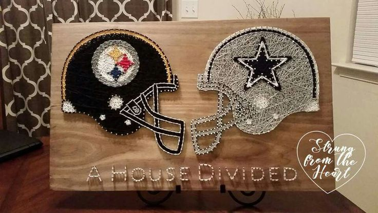 Steelers vs Cowboys House Divided String art sign by Strung from the Heart