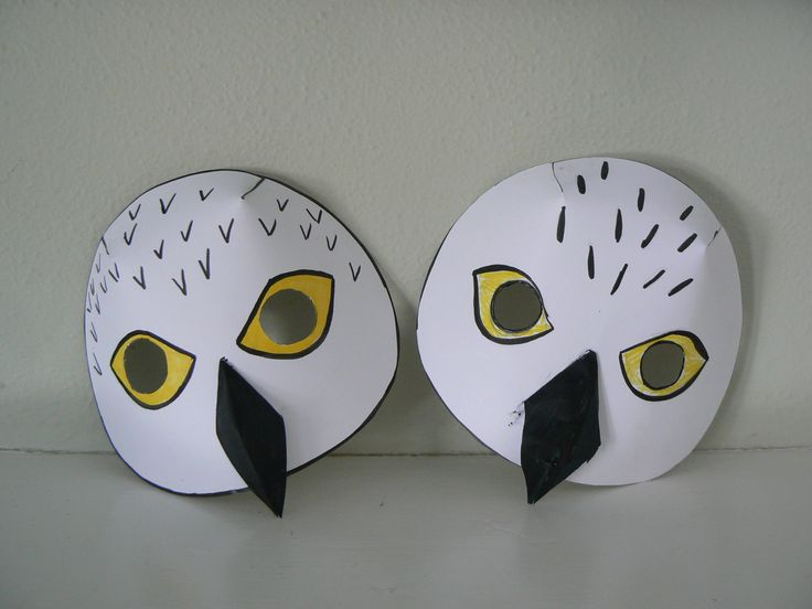 Snowy Owl Mask and Lemming game | Owl mask, Owl theme ... - photo#33