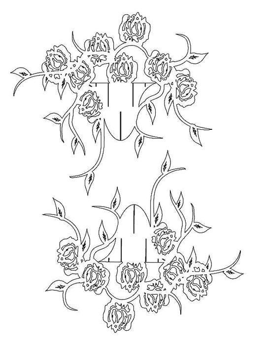 Открытки киригами цветы