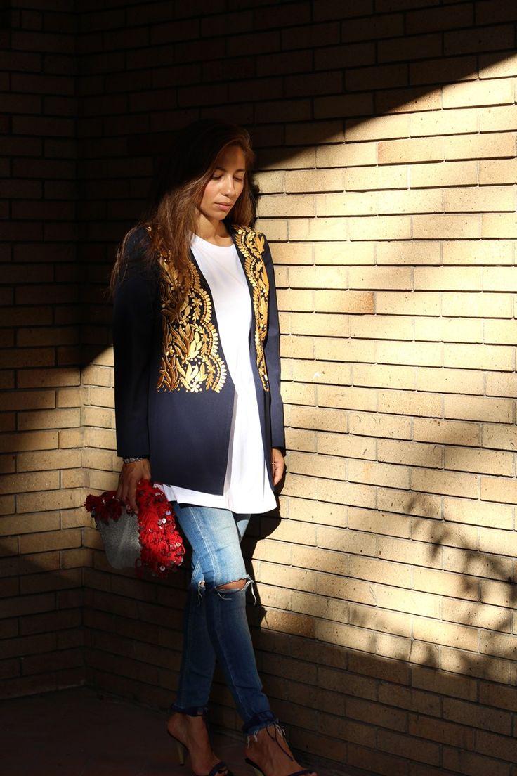 Sahara Embroidered Jacket via bakchic |  Women's Boho Clothing