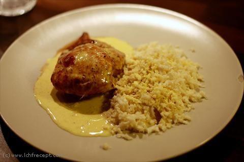 LCHF-Recept: Grillad kyckling och (blomkåls) ris med egengjord currysås!
