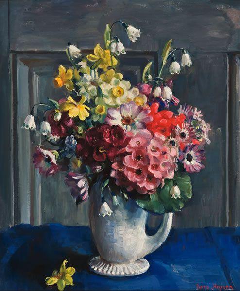 Nora Heysen : Light & Life: Spring Flowers, 1956.